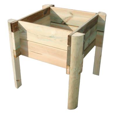 Fioriera per orto bassa in legno 10-60B verde L 36 x P 22 x H 50 cm