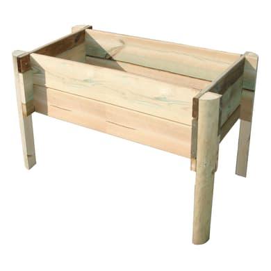 Fioriera per orto bassa in legno 10-60.100 verde L 26 x P 22 x H 50 cm