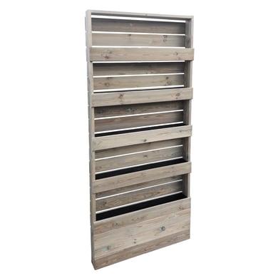Fioriera per orto alta in legno 09-65.5 verde L 12 x P 45 x H 180 cm