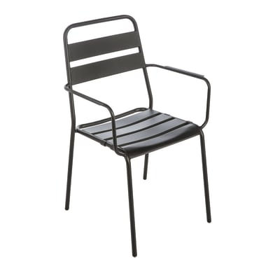 Sedia in ferro Detroit colore grigio antracite