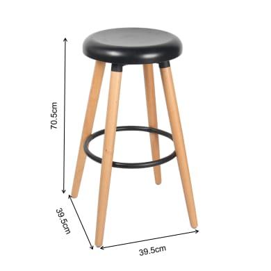 Seggiola da bar seduta in metallo base in legno