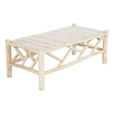 Tavolino da giardino rettangolare Amazzonia con piano in legno L 60 x P 120 cm