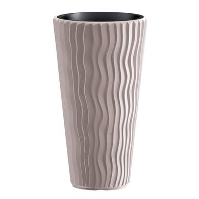 Vaso Sandy PROSPERPLAST in plastica colore sabbia H 53 cm, Ø 30 cm