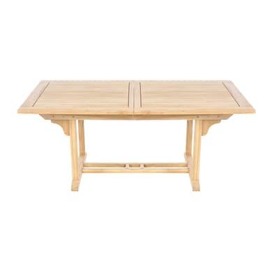 Tavolo da giardino allungabile con piano in legno L 170 x P 100 cm
