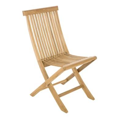 Sedia pieghevole in legno Amalfi colore legno naturale