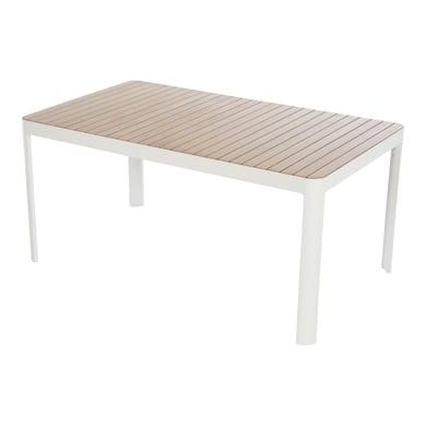 Tavolo da pranzo per giardino rettangolare Portals con piano in legno L 95 x P 161 cm