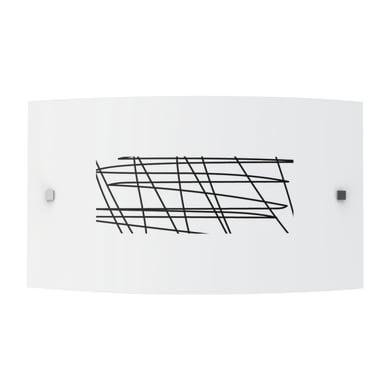 Applique classico Draft bianco, in vetro, 35x35 cm, LUMICOM