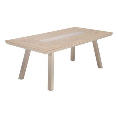 Tavolo da giardino rettangolare Moscow NATERIAL con piano in materiale composito L 100 x P 200 cm