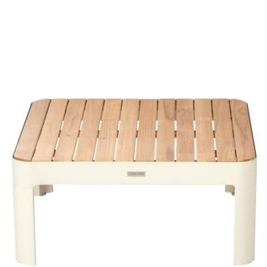 Tavolino da giardino quadrato Portals con piano in legno L 72 x P 72 cm