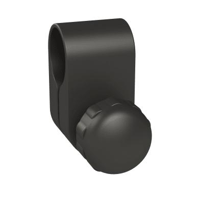 Set accessori di fissaggio Credence nero opaco in plastica
