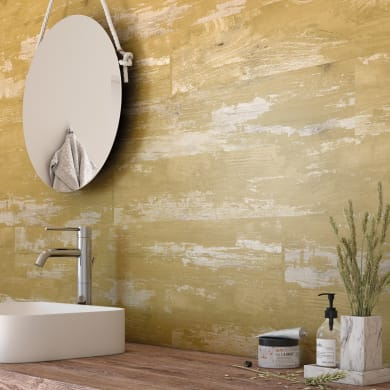 Rivestimento murale pvc opaco giallo L 120 x H 16.7 cm Sp 1 mm