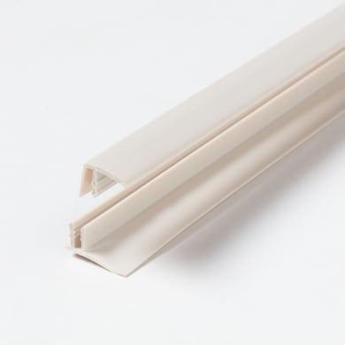 Spigolo interno u quadrato ARTENS Start & Finition Clip in pvc 2.6 m x 1.8 cm beige