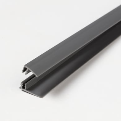 Profilo u quadrato ARTENS Start & Finition Clip in pvc 2.6 m x 1.8 cm Ø 1.5 mm dark grey