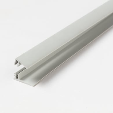 Profilo u quadrato ARTENS Start & Finition Clip in pvc 2.6 m x 1.8 cm Ø 1.5 mm light grey