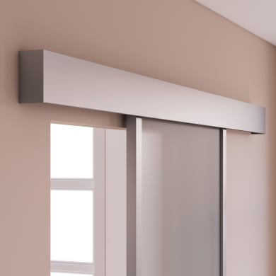 Binario per porta scorrevole grigio L 1.86 m