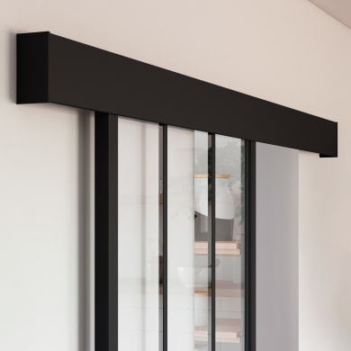 Binario per porta scorrevole Atelier Nero L 1.86 m