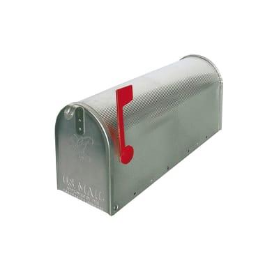 Cassetta postale formato Rivista, argento, L 17 x P 48 x H 22.2 cm