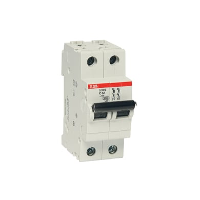 Interruttore magnetotermico ABB ELS202L-C10 2P 10A 4.5kA C 2 moduli 230V