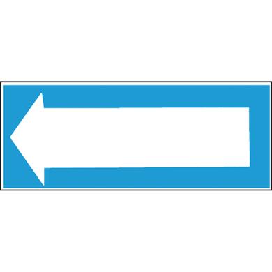 Cartello segnaletico Freccia pvc 31 x 14 cm