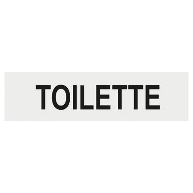 Cartello segnaletico Toilette plexiglass 15 x 4 cm
