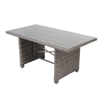 Tavolo da giardino rettangolare Medina NATERIAL con piano in vetro x P 150 cm