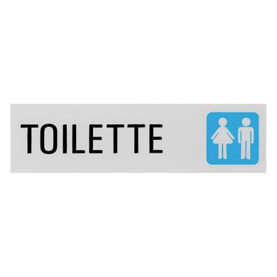 Cartello segnaletico Toilette vinile 15 x 4 cm