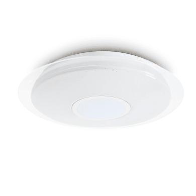 Plafoniera moderno Vizzini LED integrato bianco D. 40 cm 40x40 cm, INSPIRE