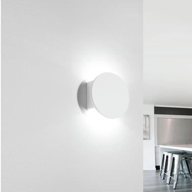 Applique design Naxos bianco, in vetro,  D. 10 cm TECNICO