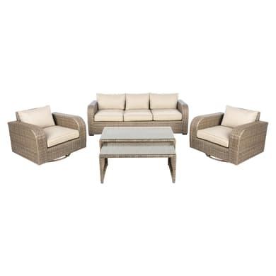 Tavolino da giardino rettangolare Manila in alluminio L 59 x P 115 cm