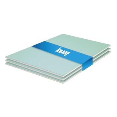 Lastra cartongesso KNAUF idrofuga 3 pz 120 x 100 cm, Sp 12.5 mm