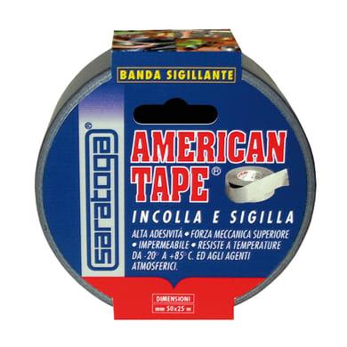 Nastro adesivo American Tape 25 m 50 mm x 25 m grigio