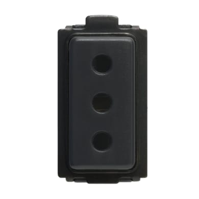 Presa 2p+t 10a FEB Click-Laser 10 A nero