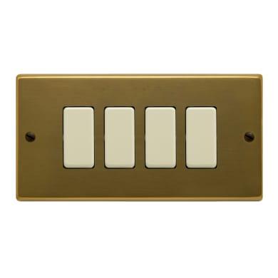Placca FEB Laser 4 moduli bronzo compatibile con magic