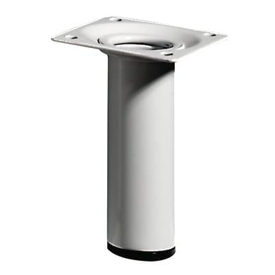 Gamba mobili HETTICH acciaio bianco resina epossidica Ø 30 mm x H 10 cm