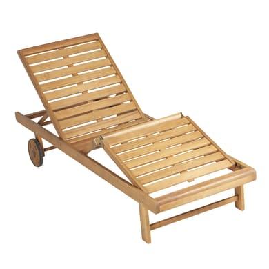 Lettino senza cuscino NATERIAL Viena in legno legno naturale