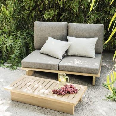Divano da giardino con cuscino 2 posti in legno Thai colore acacia