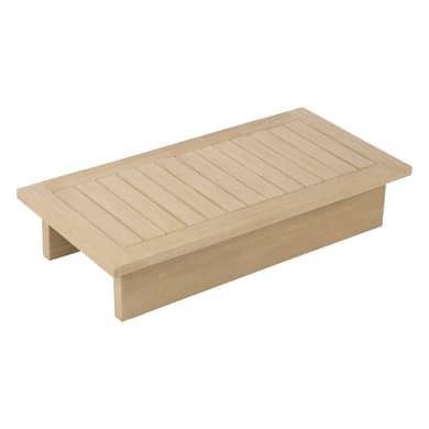 Tavolino da giardino rettangolare Thai con piano in legno L 50 x P 100 cm