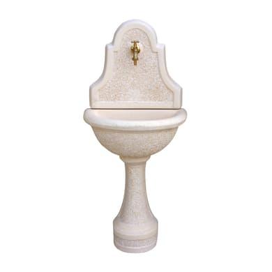Fontana a parete Betta in calcestruzzo H 120 cm, 53 x 35 cm
