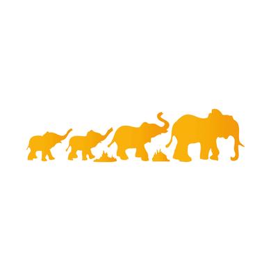 Stencil tema animali e personaggi LES DECORATIVES Elefanti 40 x 0.1 cm