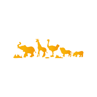 Stencil tema animali e personaggi LES DECORATIVES Giungla africana 40.0 x 0.1 cm