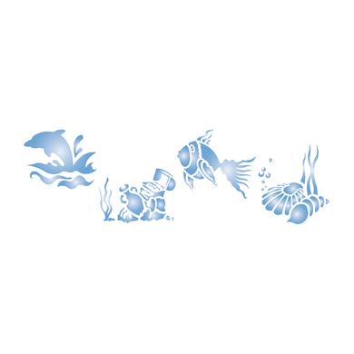 Stencil tema mare LES DECORATIVES Fondale marino 40.0 x 0.1 cm