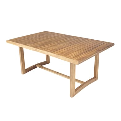 Tavolo da giardino allungabile rettangolare Viena NATERIAL con piano in legno L 180/235 x P 110 cm