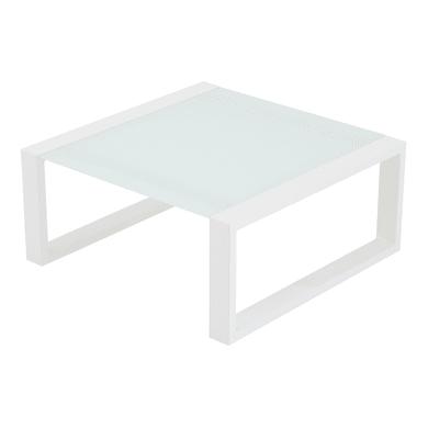 Tavolino da giardino Luisiana con piano in vetro L 70 x P 70 cm