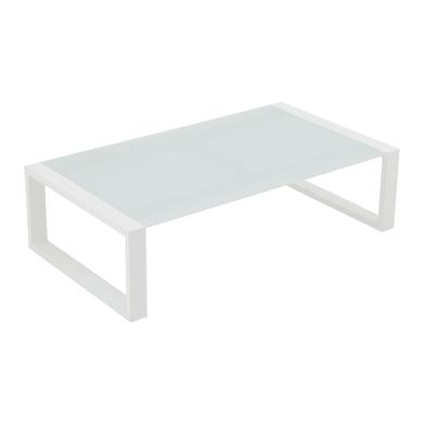 Tavolino da giardino rettangolare Luisiana con piano in vetro temperato L 65 x P 115 cm