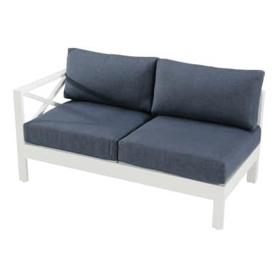 Divano con cuscino  in alluminio Luisiana colore bianco