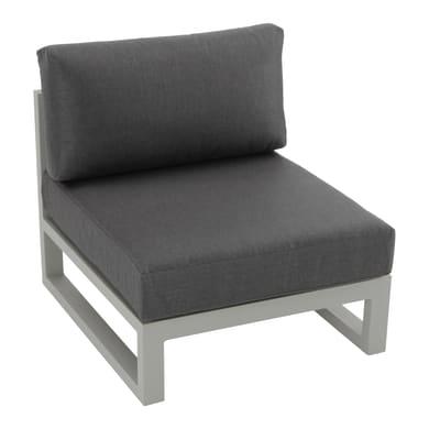 Poltrona con cuscino  in alluminio Arizona colore grigio