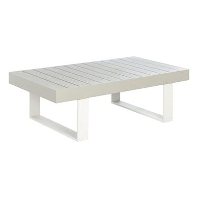 Tavolino da giardino rettangolare Las Vegas NATERIAL con piano in alluminio L 132,5 x P 73.5 cm