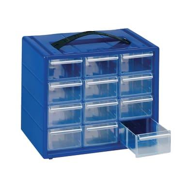 Cassettiera portaminuteria ESP12.BL in plastica blu