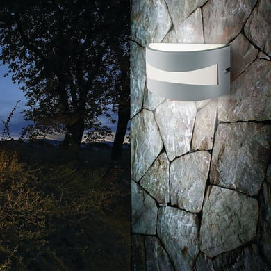Applique Tibet LED integrato  in alluminio, bianco, 10W 700LM IP54 SOVIL