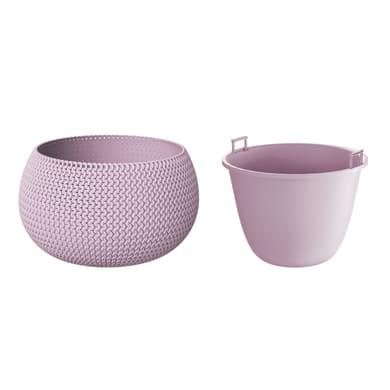 Vaso Splofy PROSPERPLAST in plastica colore lilla Ø 18 cm